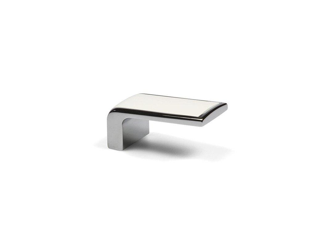 Tulip nábytková úchytka Taca chrom/bílá, 246011, rozteč 16mm