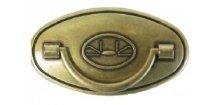 nábytková knopka rustikální Zuza staromosaz, 164-Z, rozteč 64mm