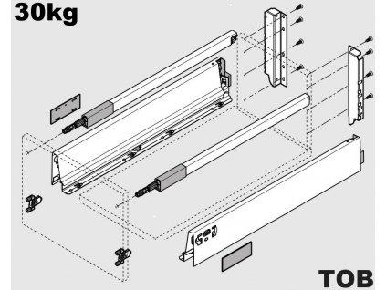 Blum výsuv Tandembox Antaro TOB D/600mm, bílý, 30kg, 260688