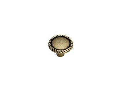 nábytková knopka rustikální Apasionado staromosaz, 2305-Z, rozteč