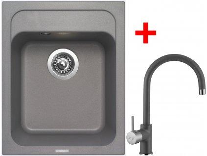 Sinks CLASSIC 400 Titanium+VITALIA GR