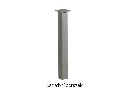 stolová noha ST722 stříbrná polomat 70x70