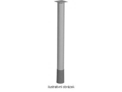 stolová noha ST601 stříbrná polomat