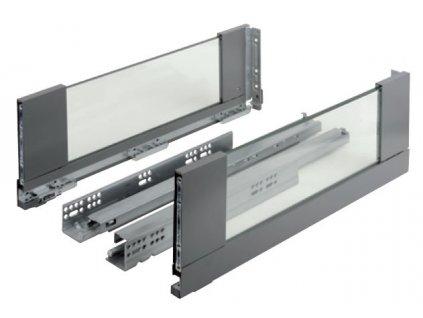 výsuv StrongMax 550/185mm, černý, sklo, 400390
