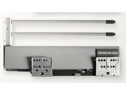 výsuv Premium Box 450/220mm, šedý, 52.3PB3.450.55