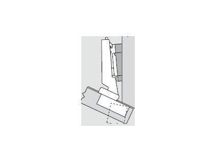 Blum sada závěsů pro skříňku o úhlu -25°  N° 31