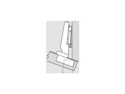 Blum sada závěsů pro skříňku o úhlu -20°  N° 32