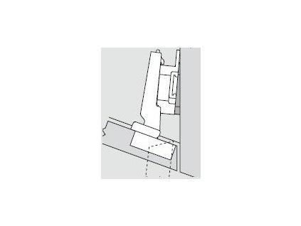 Blum sada závěsů pro skříňku o úhlu -20°  N° 12