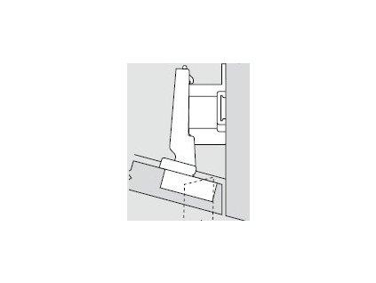 Blum sada závěsů pro skříňku o úhlu -15°  N° 13