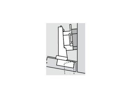 Blum sada závěsů pro skříňku o úhlu -10°  N° 14