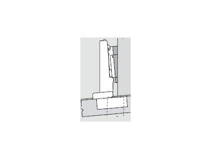 Blum sada závěsů pro skříňku o úhlu +5° N° 36
