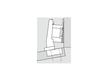 Blum sada závěsů pro skříňku o úhlu +10° N° 47
