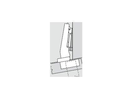 Blum sada závěsů pro skříňku o úhlu +10° N° 2