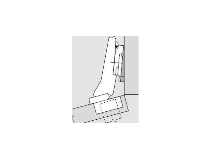 Blum sada závěsů pro skříňku o úhlu +15° N° 48