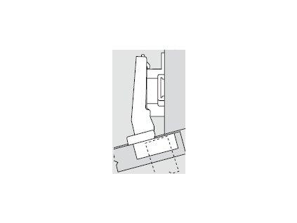 Blum sada závěsů pro skříňku o úhlu +15° N° 3