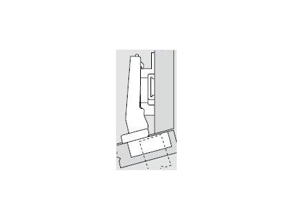 Blum sada závěsů pro skříňku o úhlu +15° N° 38