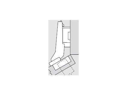 Blum sada závěsů pro skříňku o úhlu +30° N° 51