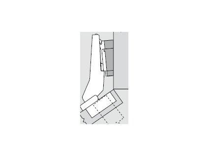 Blum sada závěsů pro skříňku o úhlu +35° N° 52