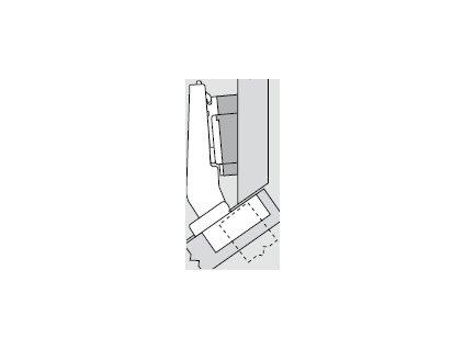 Blum sada závěsů pro skříňku o úhlu +35° N° 42