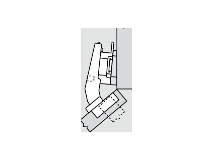 Blum sada závěsů pro skříňku o úhlu +40° N° 10