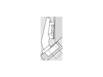 Blum sada závěsů pro skříňku o úhlu +40° N° 8