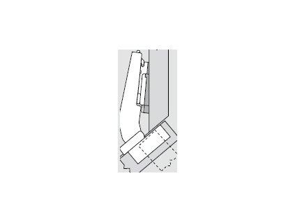 Blum sada závěsů pro skříňku o úhlu +40° N° 43