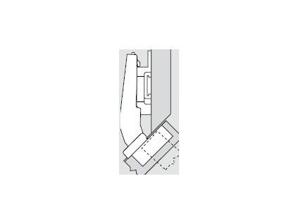 Blum sada závěsů pro skříňku o úhlu +45° N° 44