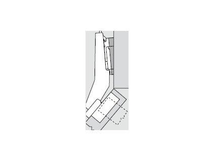 Blum sada závěsů pro skříňku o úhlu +50° N° 54