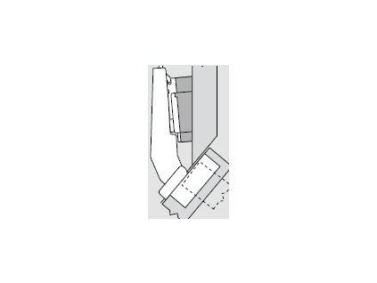 Blum sada závěsů pro skříňku o úhlu +50° N° 45
