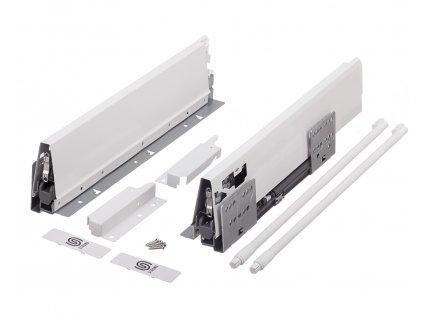 výsuv StrongBox 300/140mm, bílý, kulatý reling, 179260