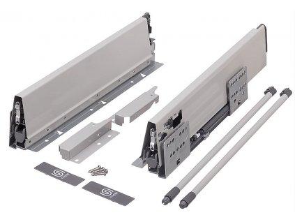výsuv StrongBox 550/204mm, šedý, jeden kulatý reling, 276487