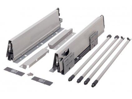 výsuv StrongBox 550/204mm, šedý, dvojtý kulatý reling, 146774