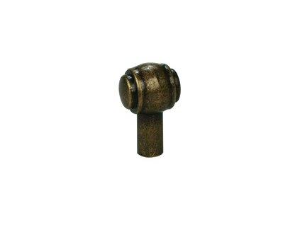 Tulip Nábytková knopka Rustik starozlatá, 296164, rozteč