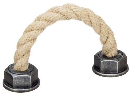 Tulip Nábytková úchytka Spaccata hnědý provaz, 351879, rozteč 128mm
