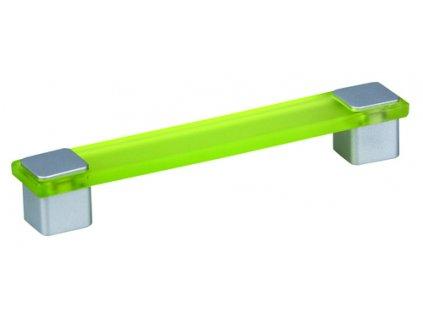 Tulip Nábytková úchytka Ema zelená, 303220, rozteč 160mm