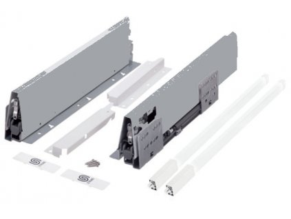 výsuv StrongBox 550/204mm, titan, jeden hranatý reling, 402575