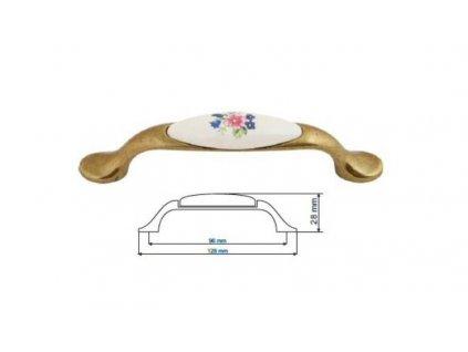 nábytková úchytka porcelánová Magda