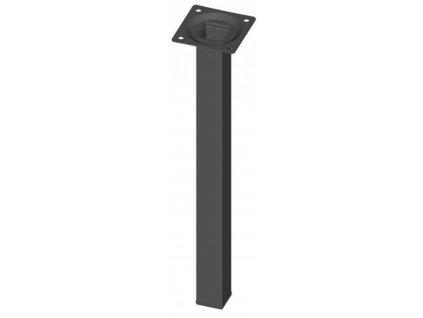 Nábytková noha hranatá 25x25x700mm, černáWalteco