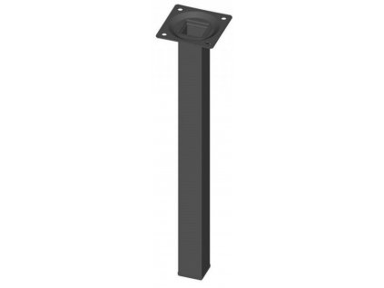 Nábytková noha hranatá 25x25x800mm, černáWalteco