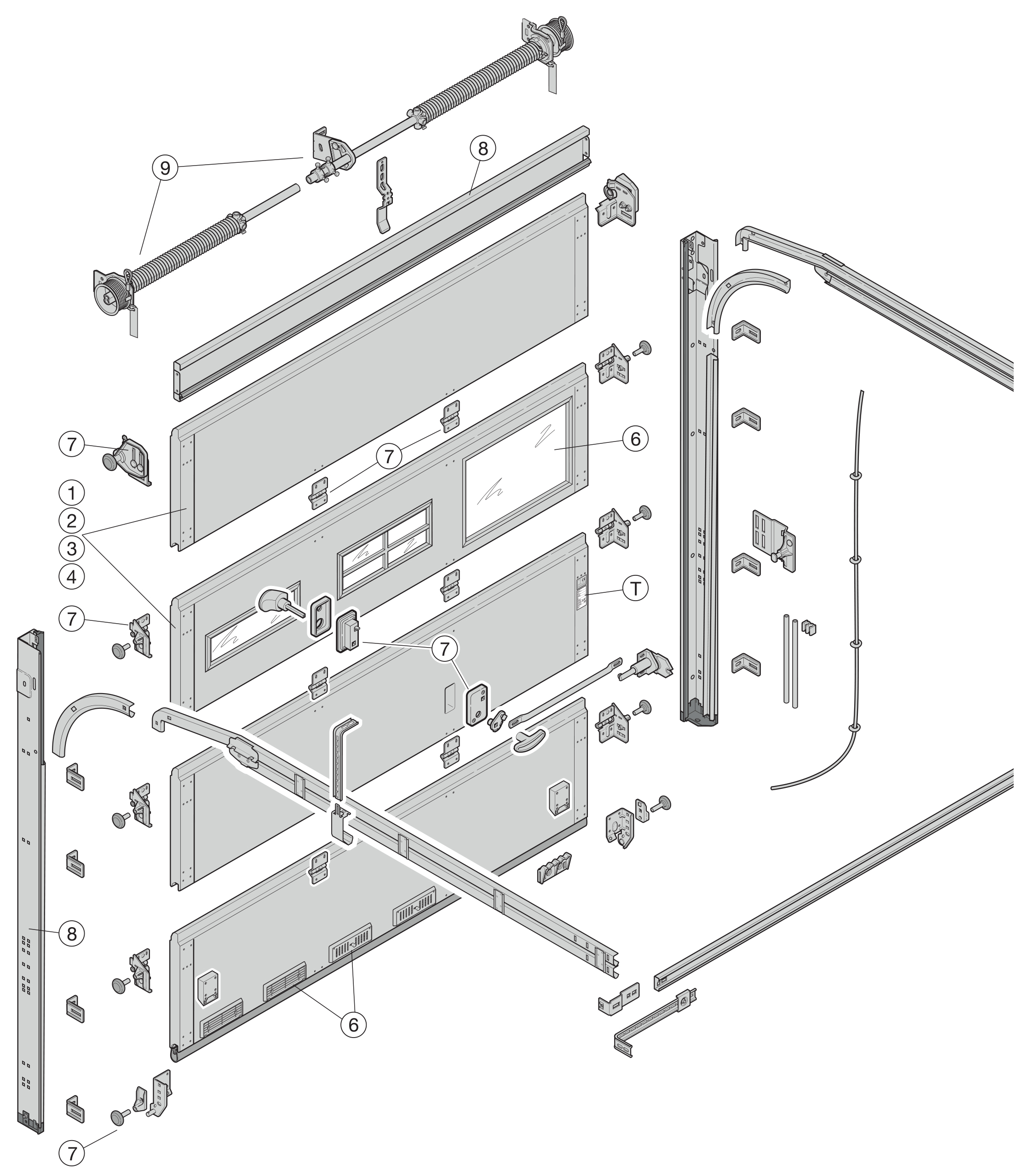 Náhradní díly pro sekční vrata Hörmann