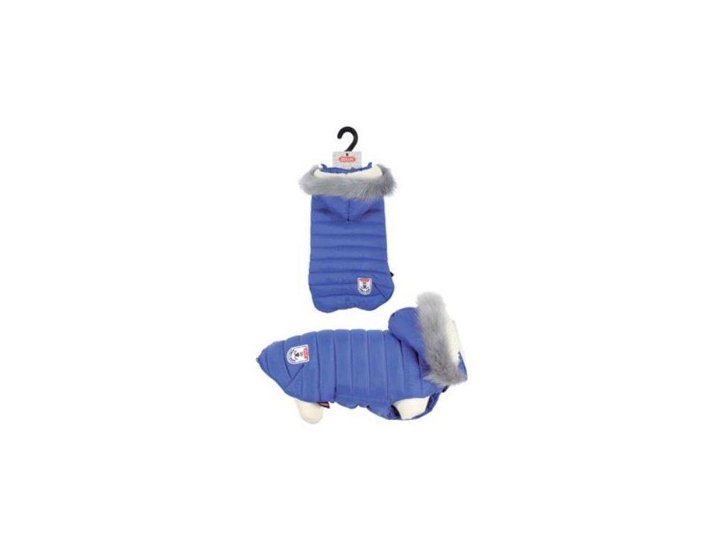 Obleček prošívaná bunda pro psy URBAN modrá Zolux