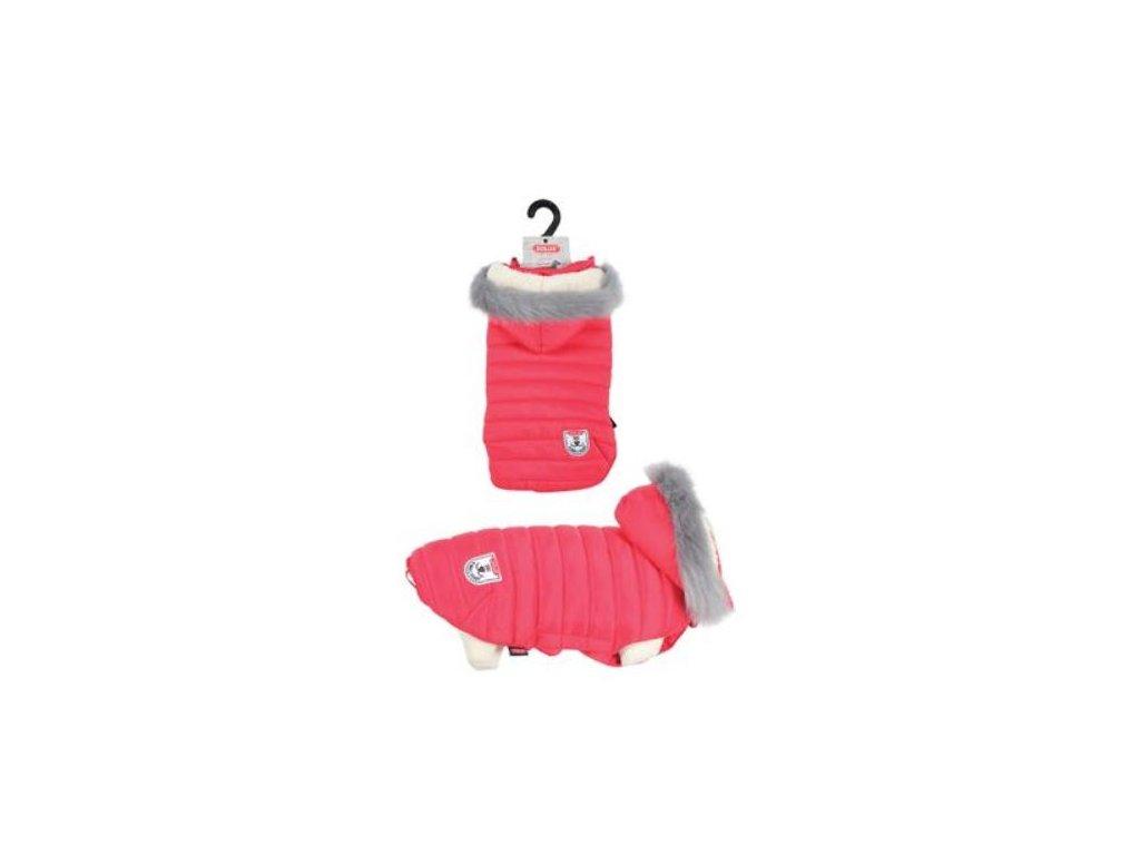 Obleček prošívaná bunda pro psy URBAN červená Zolux