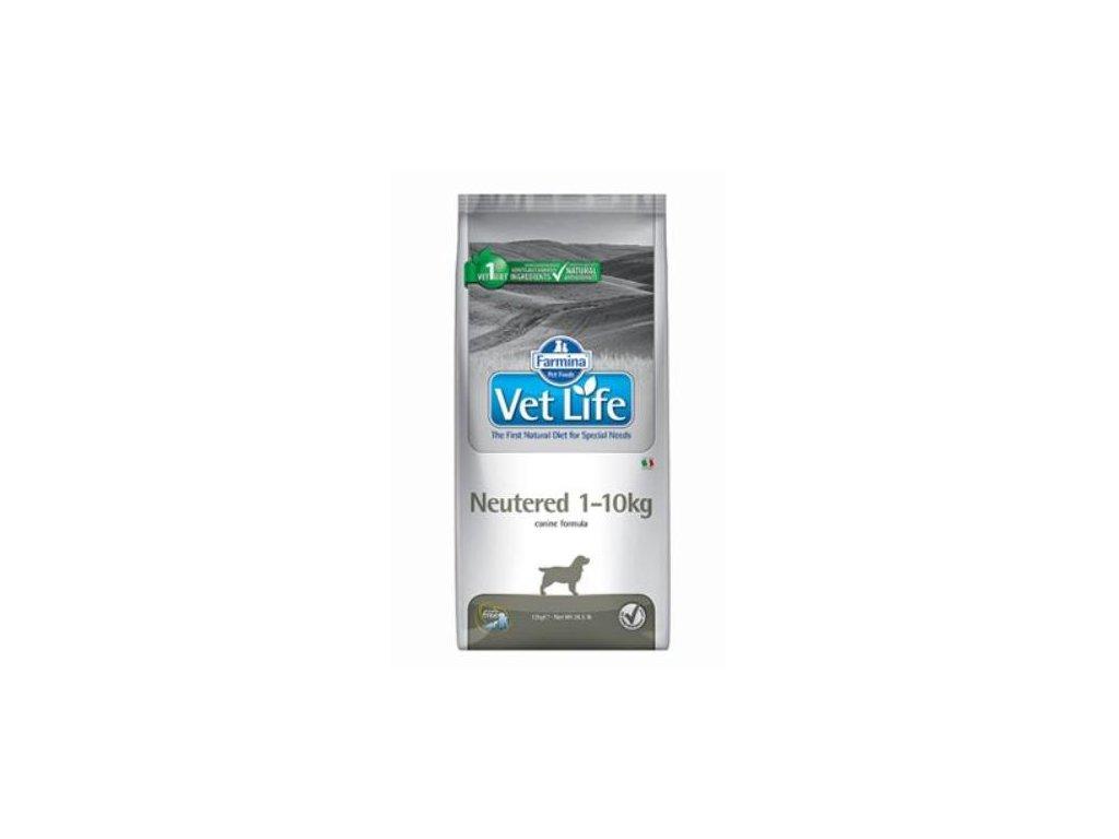 vet life natural dog neutered 1 10kg 10kg