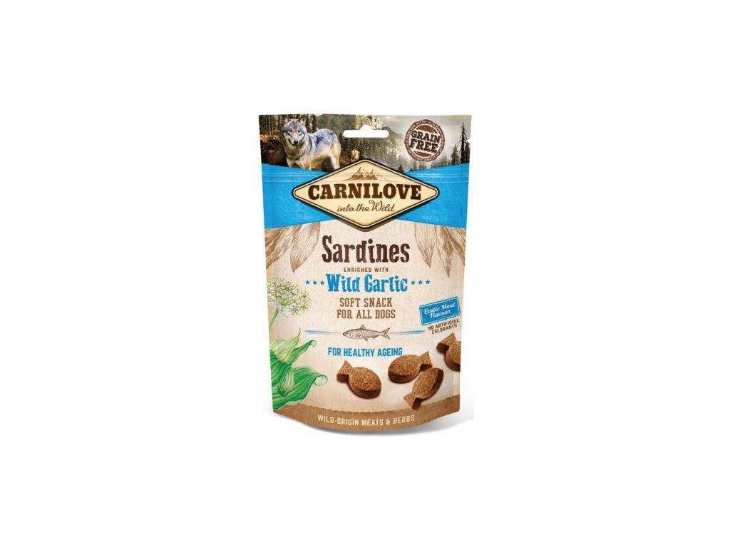 carnilove dog semi moist sardineswild garlic 200g