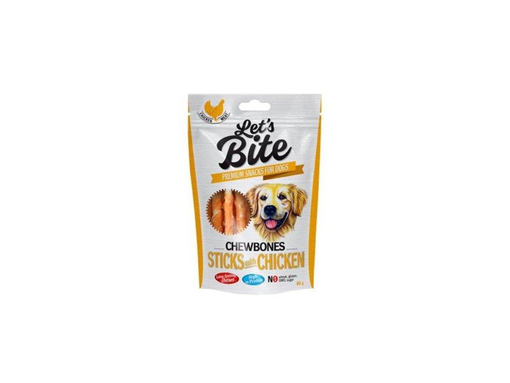 brit let s bite chewbones sticks chicken 300g