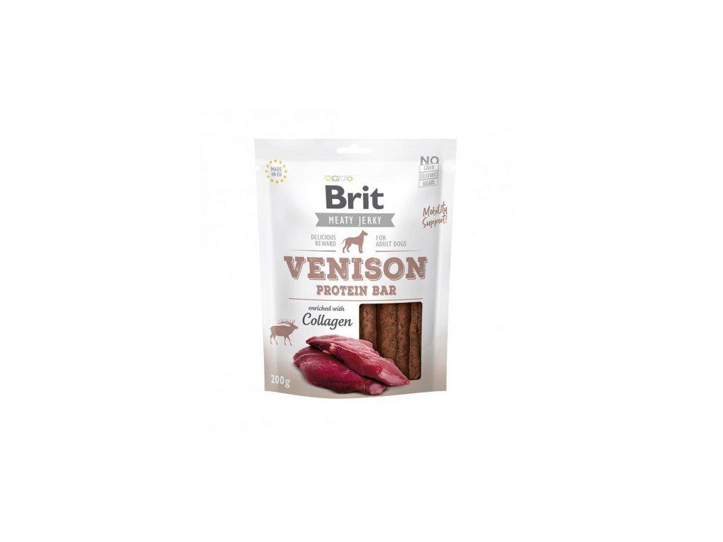 brit jerky venison protein bar 200g