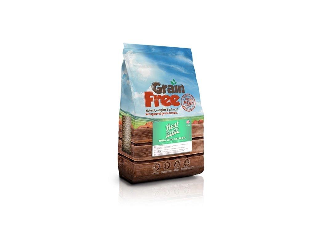 best breeder grain free tuna with salmon sweet potato broccoli