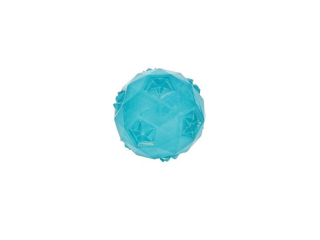Hračka pes míček TRP POP BALL 6cm tyrkysová Zolux