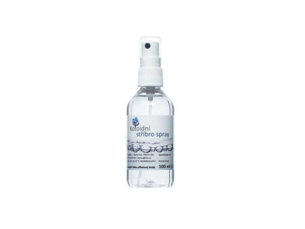 Koloidní stříbro 100 spray, koncentrace 30 ppm