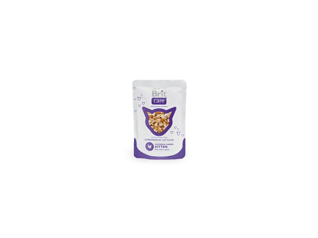 Brit Care Cat kapsa Chicken & Cheese Pouch Kitten 80g